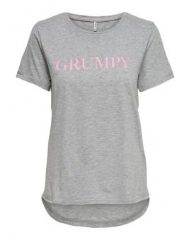 CAMISETA ONLMOOD GREY/GRUMPY VER'19
