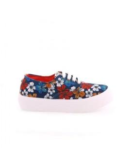 Zapatillas doble piso polinesia azules