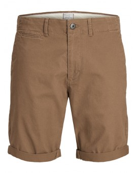 JJIENZO JJCHINO SHORTS DARK CAMEL J&J