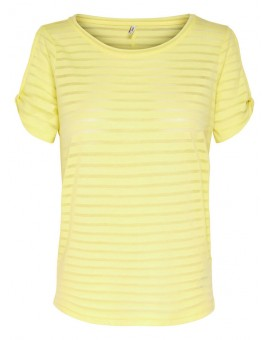 ONLPERRY BURNOUT YELLOW STRIPE ONLY