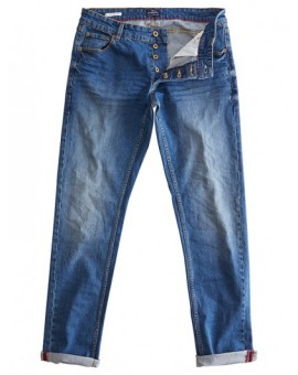 VAQUEROS SLIM JOY BLUE DENIM !SOLID