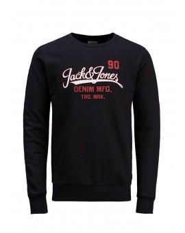SUDADERA JJELOGO BLACK J&J