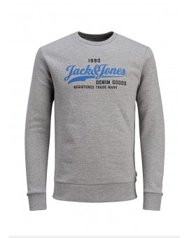 SUDADERA JJELOGO LIGHT GREY J&J
