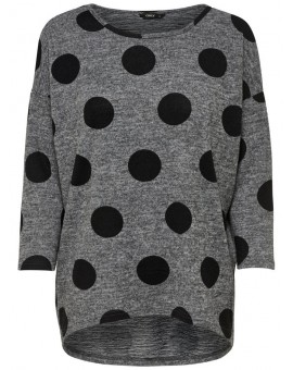 ONLELCOS TOP DARK GREY DOTS ONLY