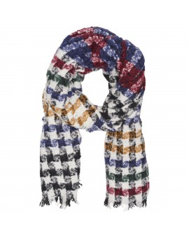 ONLASTRID WEAVED SCARF CLOUD DANCER/RED/BLUE/G ONLY