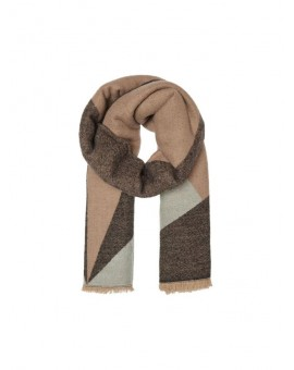 ONLTILLA WEAVED SCARF BLACK/TAUPE ONLY