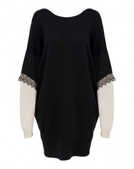 JDYKIMORA DRESS BLACK/EGGNOG JACQUELINE DE YONG